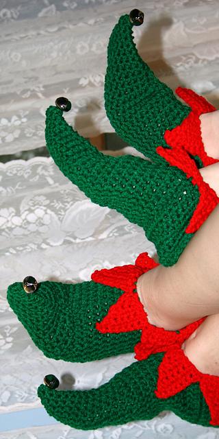 Ravelry Elf Slippers Pattern By Linda Dean