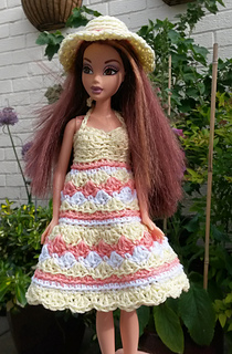 ravelry barbie summer dress and hat pattern by linda mary