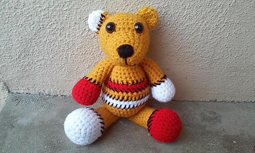 Benny the Patchwork Bear pattern by Melissa's Crochet Patterns