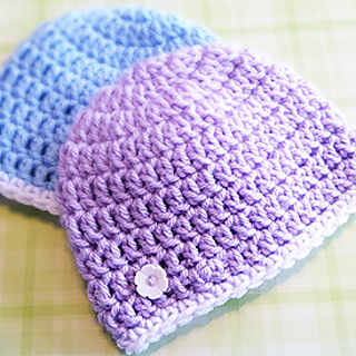 Ravelry Super Simple Newborn Beanie Pattern By Rebecca Langford