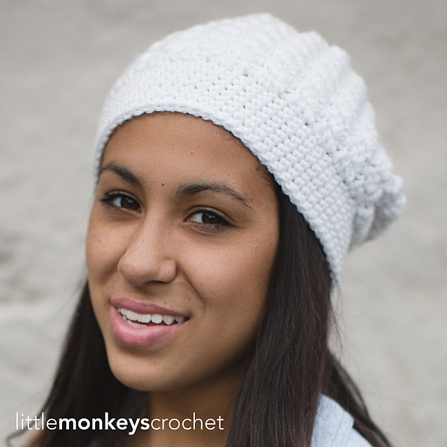 a6bf8734a9ed8 Ravelry  Snowdrift Slouch Hat pattern by Rebecca Langford