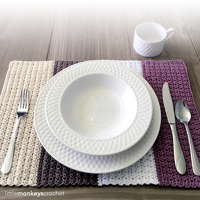 Ravelry Color Block Placemat Pattern By Rebecca Langford