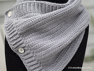 Ravelry: Herringbone Buttoned Cowl pattern by Rebecca Langford