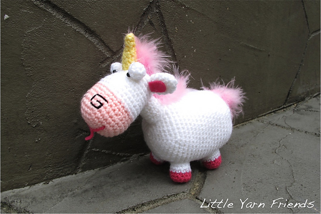 Ravelry Lil Fluffy Unicorn Despicable Me Pattern By Rachel Hoe