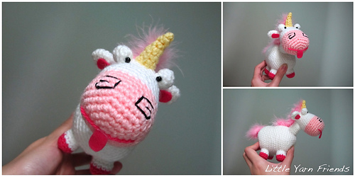 Ravelry: Lil\' Fluffy Unicorn Despicable Me pattern by Rachel Hoe