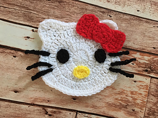 Ravelry hello kitty applique pattern by lisa schoonmaker