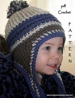 6d59e71d746 Ravelry  Mountain Jam Ear Flap Beanie pattern by Martha McKeon