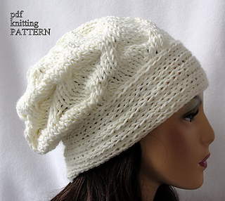 5147c9dbb5f Ravelry  Cross Country Slouch Beanie pattern by Martha McKeon