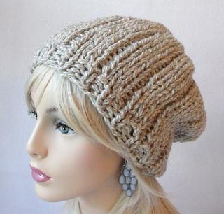 daf85289e34 Ravelry  Wide Rib Slouch Hat pattern by Martha McKeon
