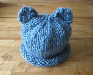 3b9c901be0b Ravelry  Baby Bear Hat for Newborn or Preemie pattern by Fiber Flux ...