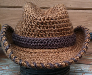 Free Crochet Cowboy Hat Pattern For Adults : Ravelry: Cowboy, Cowgirl Hat Toddler to Adult pattern by ...