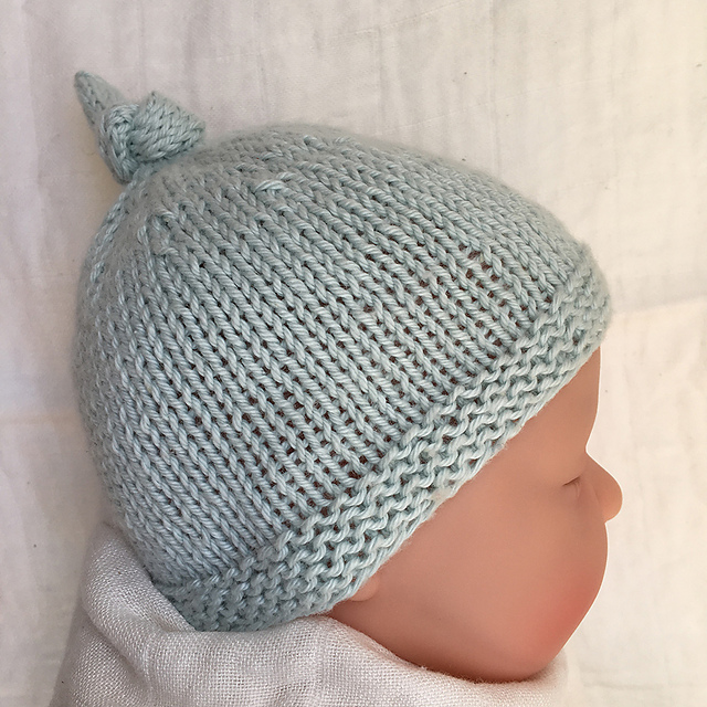 77da6ff8f6bb Ravelry  Baby Hat with Top Knot - Tegan pattern by Julie Taylor