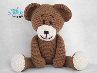 Amigurumi Teddy Bears : Ravelry teddy bear amigurumi animal pattern by viktorija dineikiene
