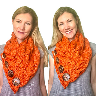 Ravelry Waves Of Cables Button Cowl Chunky Cable Scarf Pattern By