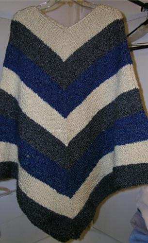 Ravelry Mitered Unisex Poncho Knit Pattern By Lion Brand