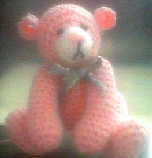 MONIQUE Miniature Thread Crochet Bear pattern by Edith Molina