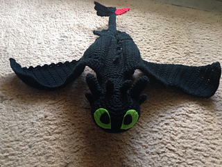 Amigurumi Toothless : Ravelry toothless pattern by nichole s nerdy knots