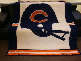 Ravelry Nfl Chicago Bears Afghan Pattern By Patricia Marks