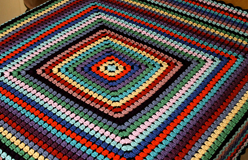 Ravelry One Granny Square Blanket Pattern By Lynne Samaan