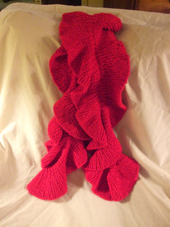 Knitted Christmas Bells Patterns : Ravelry: Ruffled scarf pattern by Pam MacKenzie