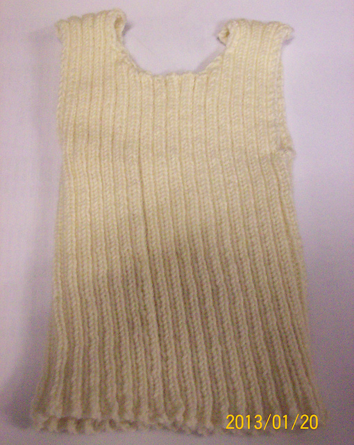 Ravelry Singlet With Optional Knit Crochet Edging Pattern By New
