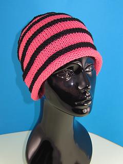 74c9c653634 Ravelry  Stripe Roll Brim Beanie pattern by Christine Grant