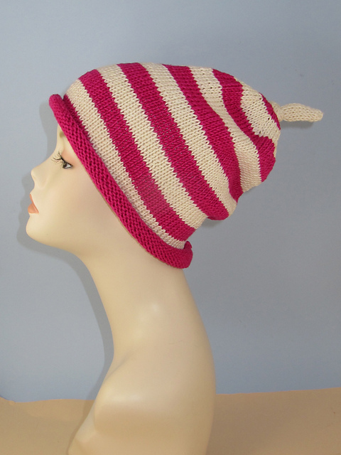 f55e52fb423 patterns   Mad Monkey Knits and 1 more...   Simple Stripe Roll Brim Topknot  Slouch Hat