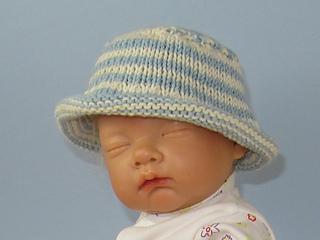 420f46bb476 Ravelry  Baby and Child Roll Brim Stripe Bucket Hat pattern by Christine  Grant