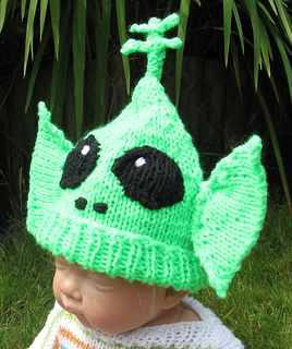 Ravelry  Baby Big Ears Alien Beanie Hat pattern by Christine Grant c5a352767f3