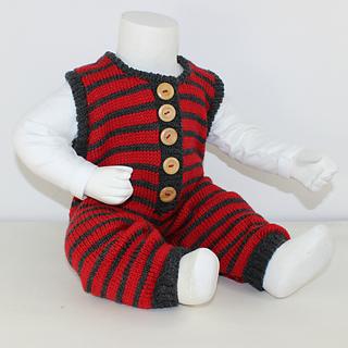 4faa2044d Ravelry  Cloudborn Fibers Baby Stripe Dungarees pattern by Christine ...