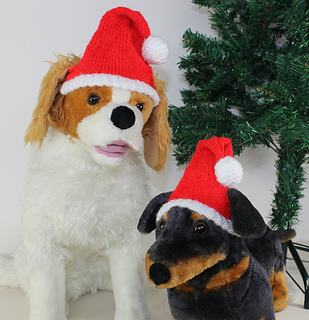 d71c4366a5376 Ravelry  Dog Christmas Santa Hat pattern by Christine Grant