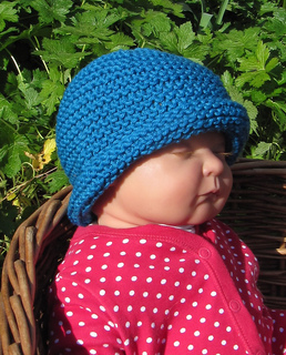 Ravelry  Baby Simple Garter Stitch Roll Brim Beanie Hat pattern by ... f28051547b2