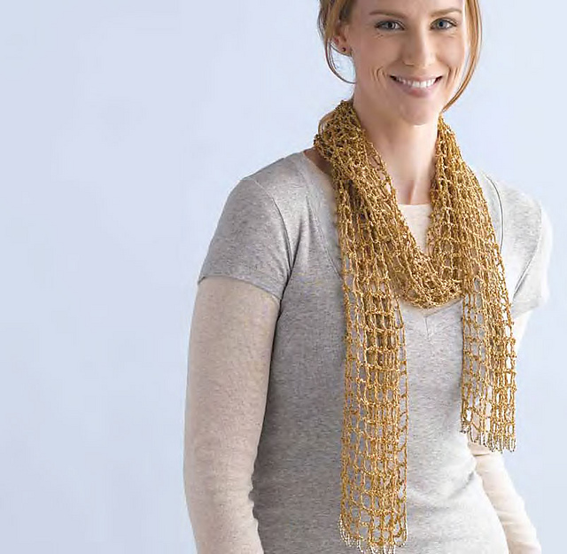 Ravelry Gilded Mesh Scarf Pattern By Mags Kandis