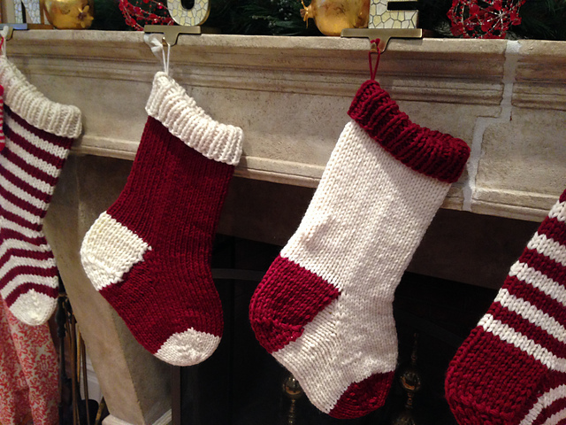 Ravelry Jumbo Christmas Stocking In A Jiffy Solid Pattern By