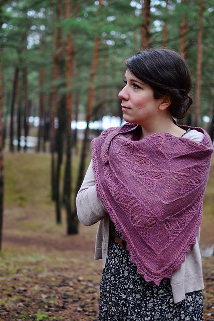 canopy shawl knitting pattern