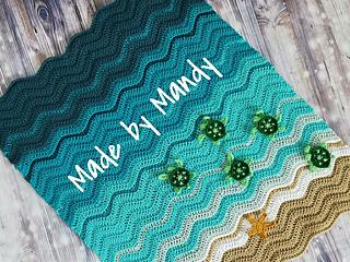 Ravelry Baby Sea Turtle Blanket Pattern By Mandy Huseth