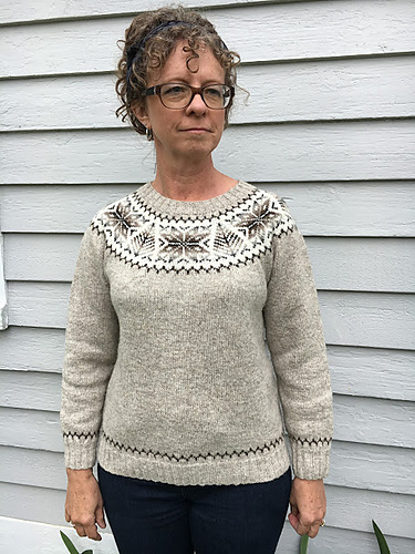 Ravelry: Shetland Tree and Star Yoke Pullover pattern by Marci ...