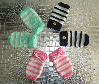 Ravelry Easy Knit Baby Mittens Pattern By Marianna Mel