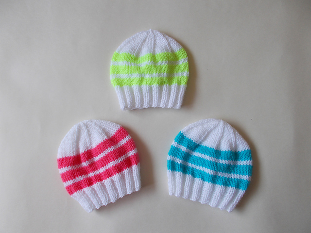 patterns   marianna s lazy daisy days.   Easy Bright Stripes Newborn Baby  Hats 0c445b10358