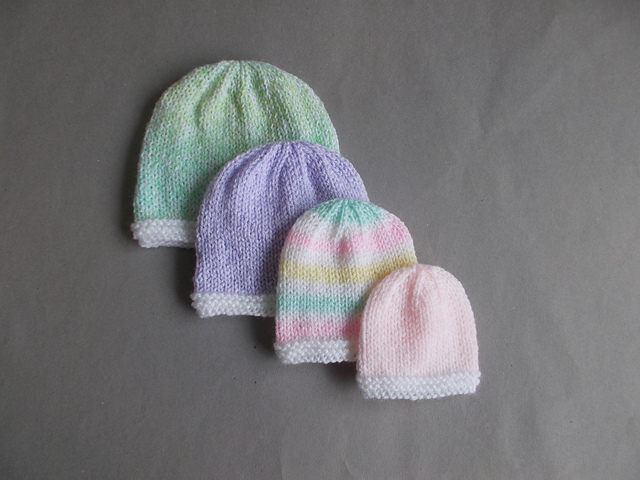 Ravelry Tiny Topaz Premature Newborn Baby Hats Pattern By