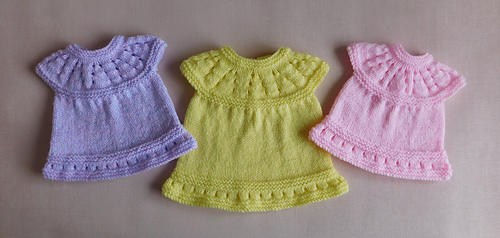 6b3775033 Ravelry  Lazy Daisy All-in-One Premature Baby Dress pattern by ...