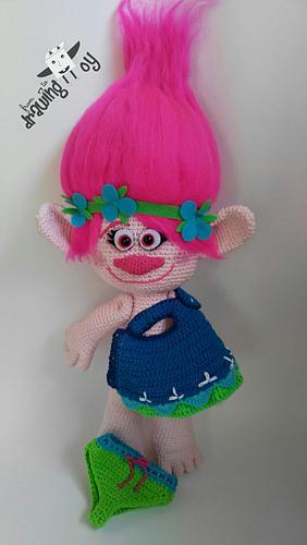 Ravelry Troll Poppy Pattern By Elkey Crochet Cool Trolls Crochet Pattern