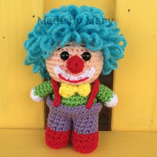 Amigurumi Mini Doll Pattern : Ravelry: Clown Mini Doll Amigurumi pattern by Mary Smith