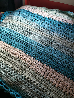Ravelry Remix River Rock Baby Blanket Pattern By