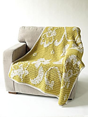 Ravelry Intarsia Brocade Afghan Pattern By Lion Brand Yarn