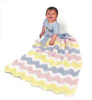 Ravelry: Baby Ripple Afghan: Knit #1206 pattern by Lion ...