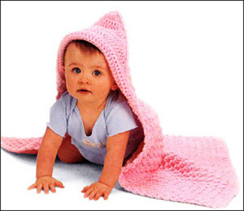 Ravelry Hooded Baby Blanket Crochet Pattern By Lion Brand Yarn