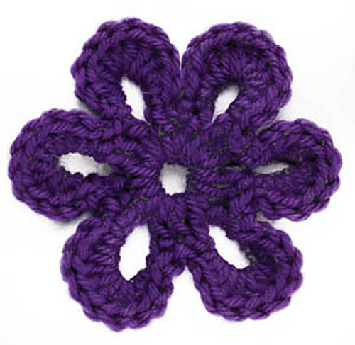 Ravelry Crochet Motif Vi Six Petal Flower Motif Pattern By Lion