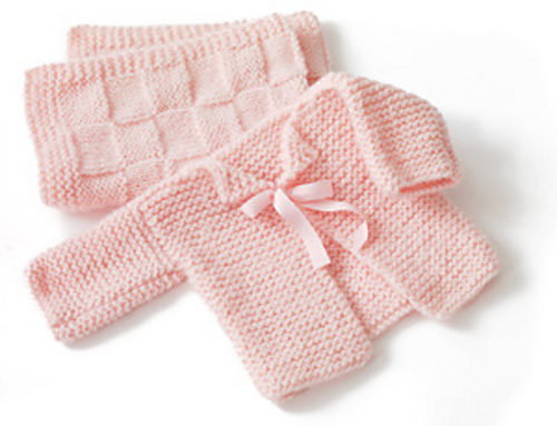 Ravelry Glamour Babys First Cardigan Pattern By Lion Brand Yarn