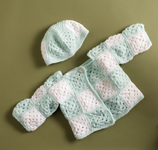 959c0fe3bd2e Ravelry  Brand New Baby Sweater and Hat pattern by Lion Brand Yarn